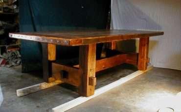 Made Barnwood Furniture Plank Dining Table Custom Farm