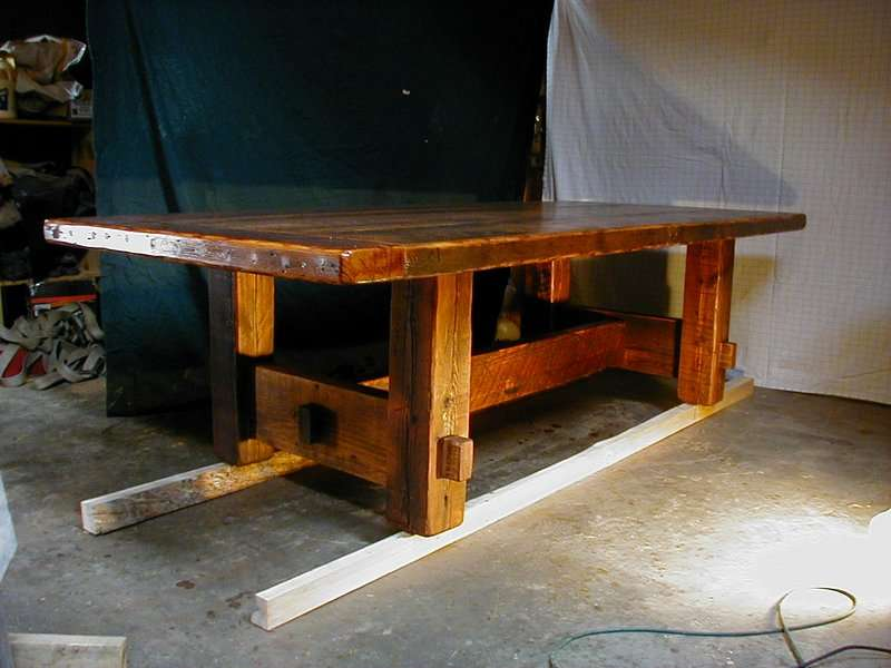 Made Barnwood Furniture Plank Dining Table Custom Farm