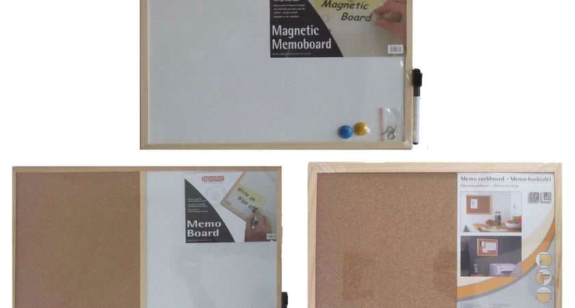 Magnetic Memo Board Cork Whiteboard Notice
