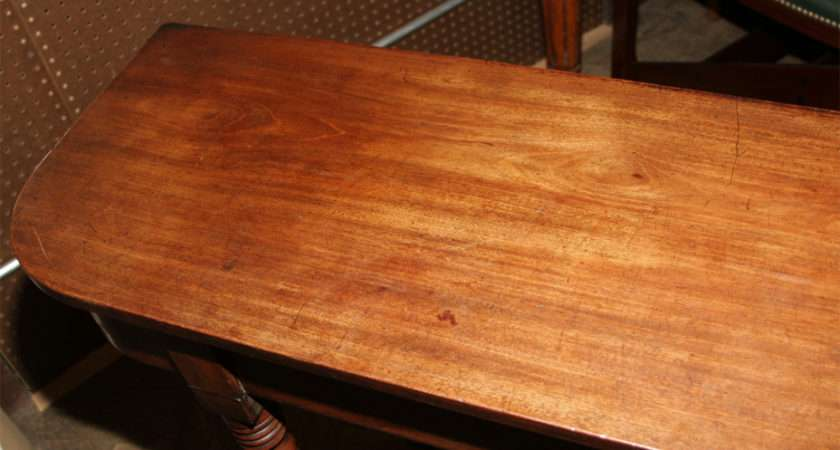Mahogany Console Table Very Thin Proportions Stdibs