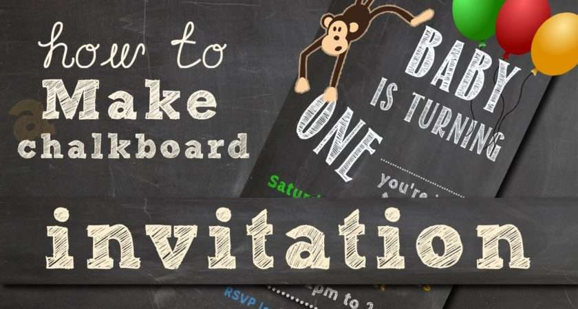 Make Chalkboard Invitation Video Youtube
