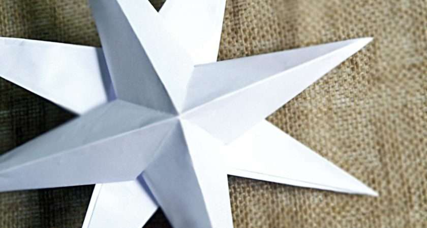 Make Christmas Paper Star Decorations Hgtv