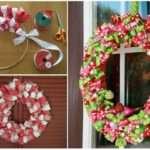 Make Christmas Ribbon Wreath Here