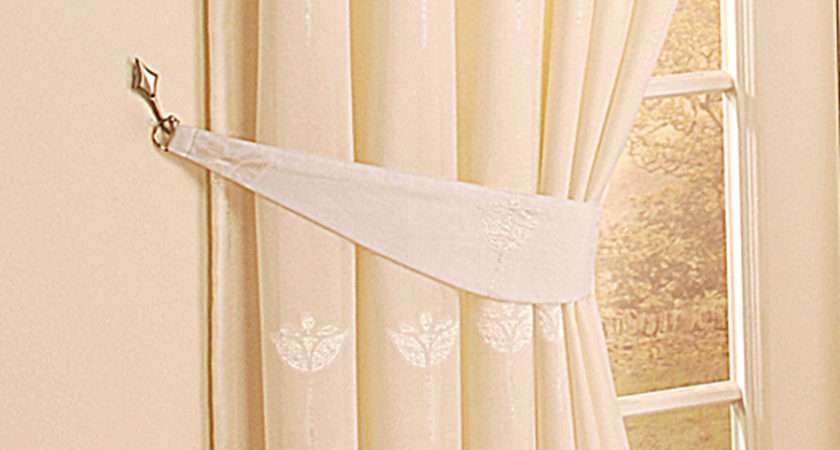 Make Curtain Tie Backs Fabric