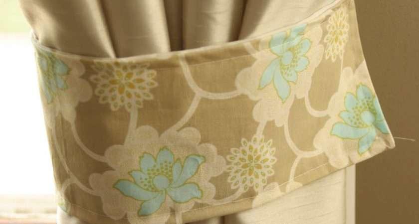 Make Curtain Tie Backs Homemade Ginger