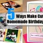 Make Cute Homemade Birthday Cards Ideas