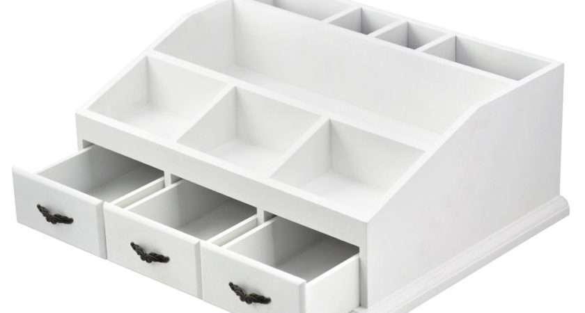 Make Drawers Wooden Cosmetic Pens Desk Tidy Organiser