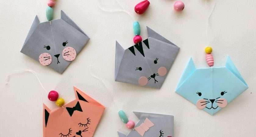 Make Easy Origami Cat Fun Crafts Kids