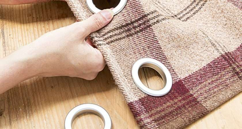 Make Eyelet Curtains Three Easy Steps Transform Your