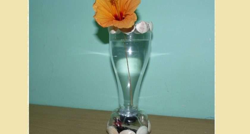 Make Flower Vase Plastic Bottle Underwater Light