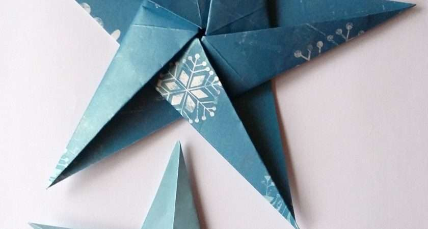 Make Folded Paper Christmas Decorations Birch