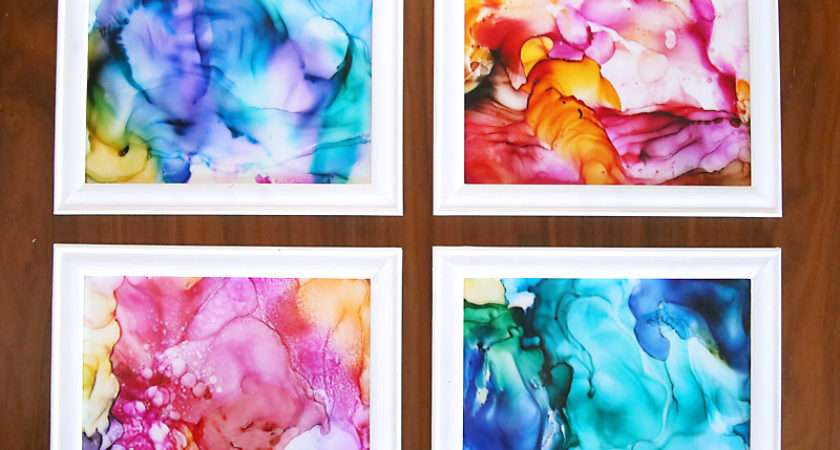 Make Gorgeous Fired Alcohol Ink Art Easy