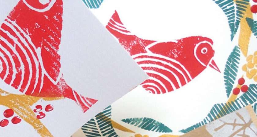 Make Hand Printed Christmas Card