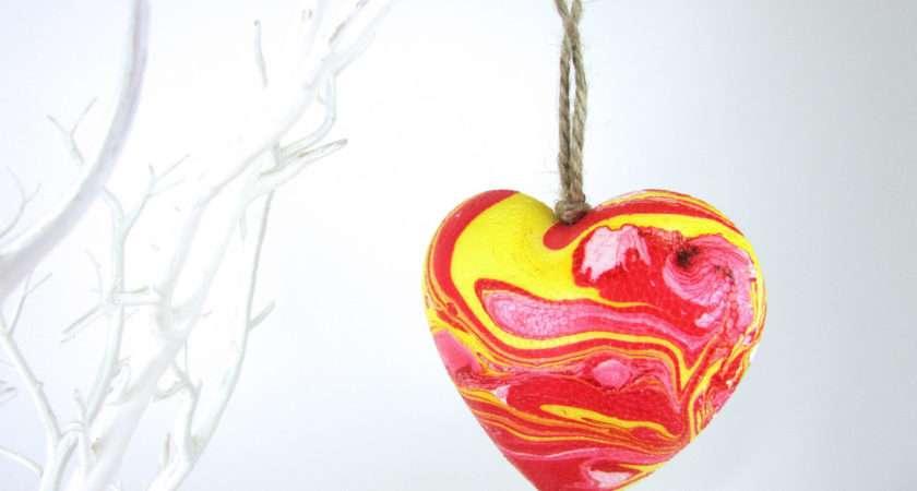 Make Marbled Heart Decorations Hobbycraft Blog
