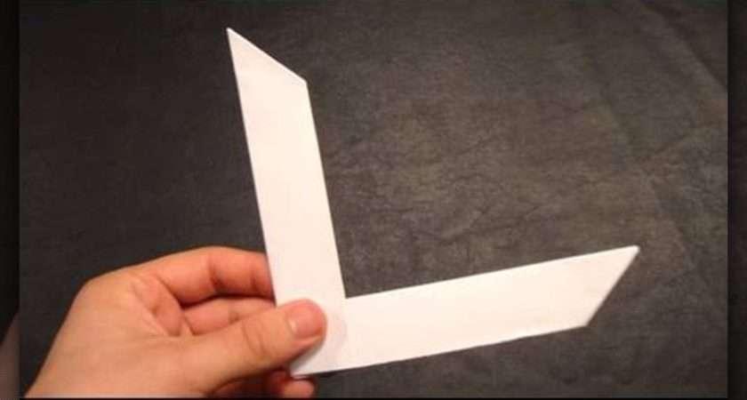 Make Origami Boomerang