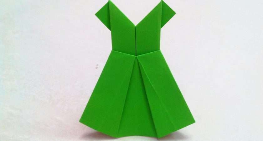 Make Origami Paper Dress Folding Craft