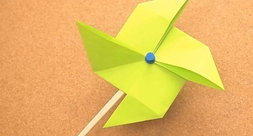 Make Origami Pinwheel Steps
