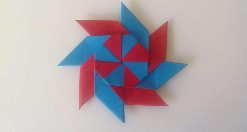 Make Origami Transforming Ninja Star Youtube