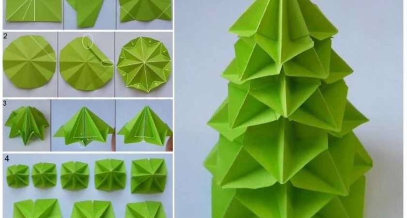 Make Paper Craft Origami Tree Step Diy Tutorial