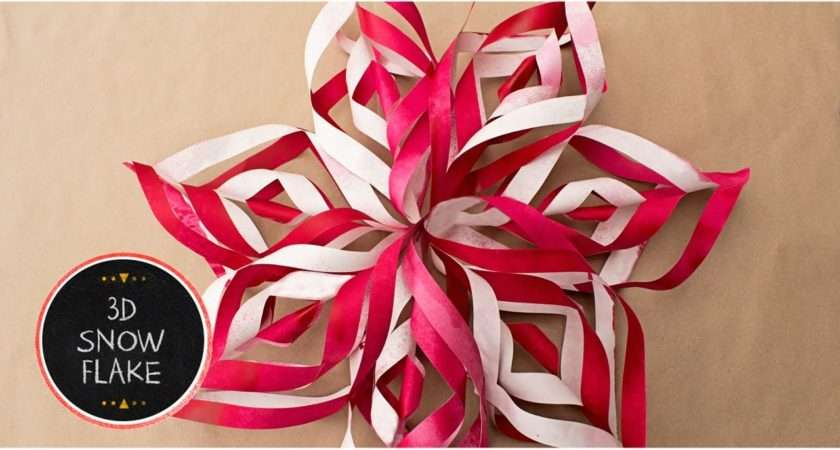 Make Paper Snowflake Decorations Out Diy Tutorial