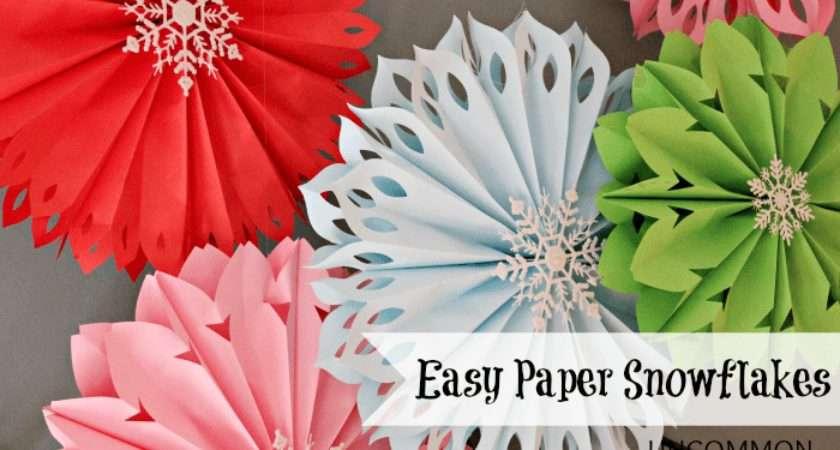 Make Paper Snowflakes Easiest Ever