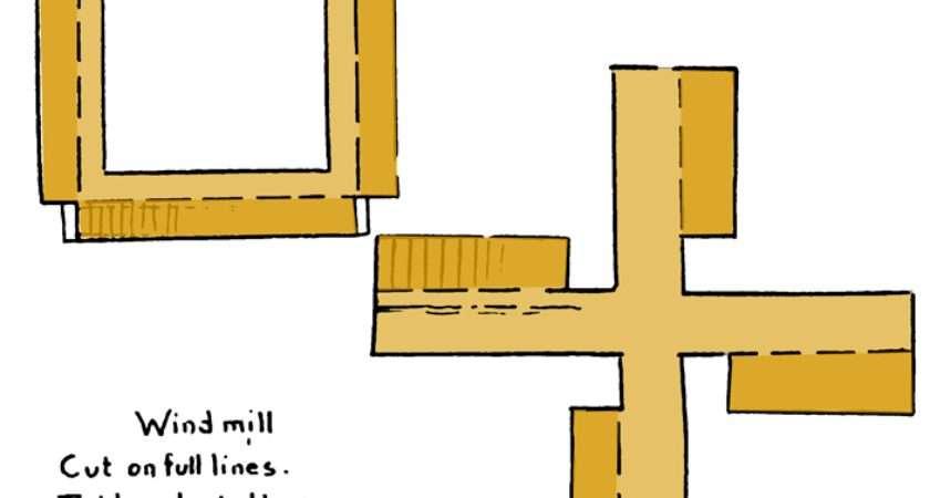 Make Paper Windmills Modelling Craft Instructions