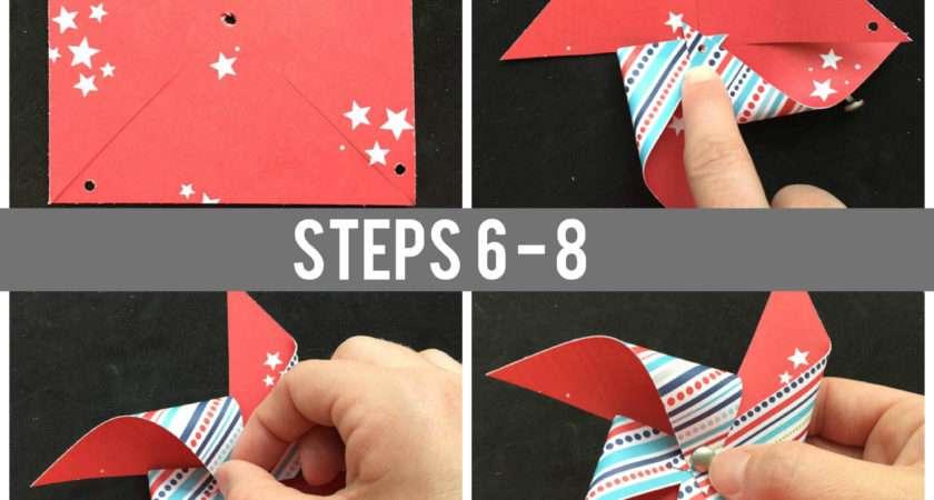 Make Pinwheel Paper Scraps Tutorial