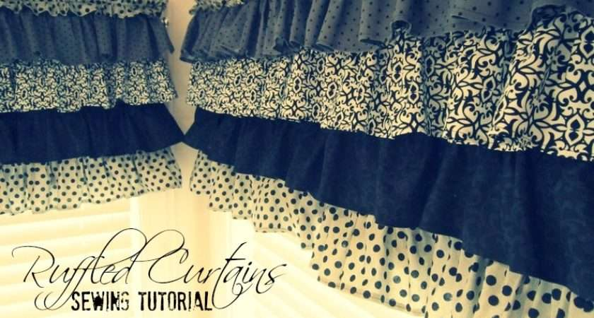 Make Ruffled Kitchen Curtains Simplygloria