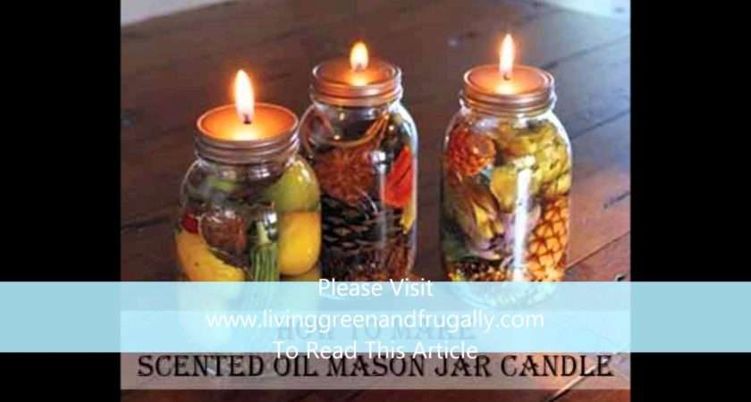 Make Scented Oil Mason Jar Candle Youtube