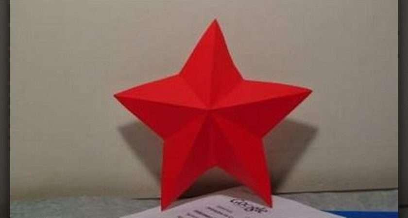 Make Simple Paper Star Kirigami Origami