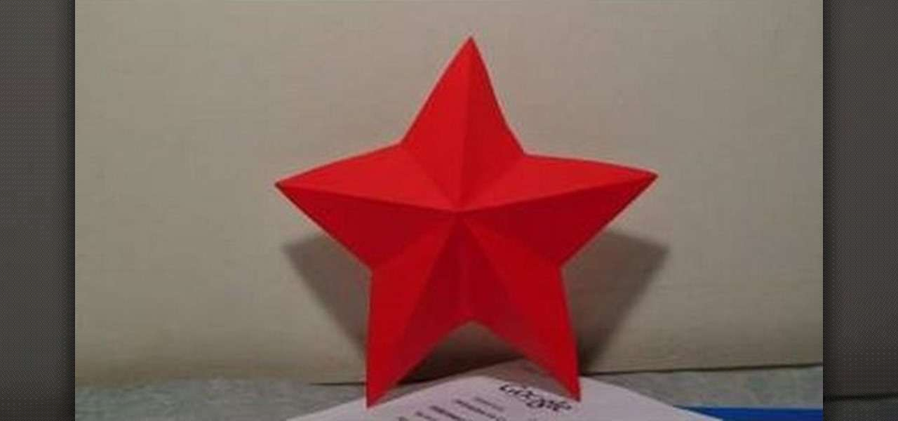 Make Simple Paper Star Kirigami Origami