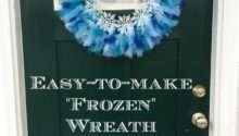 Make Tulle Wreath Easy Frozen