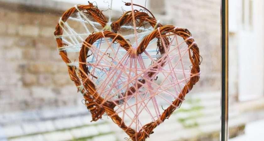 Make Wicker Heart Decoration Youtube