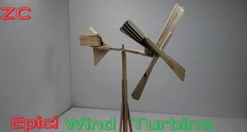 Make Wind Turbine Out Popsicle Sticks Youtube