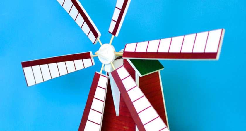 Make Windmill Model Printable Pattern