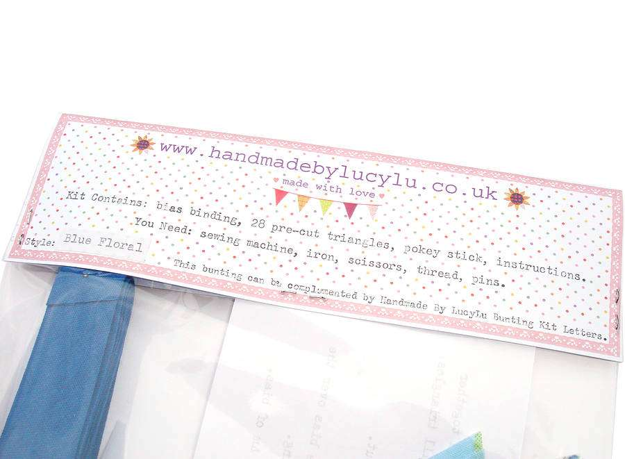 Make Your Own Bunting Kit Handmade Lucylu Notonthehighstreet