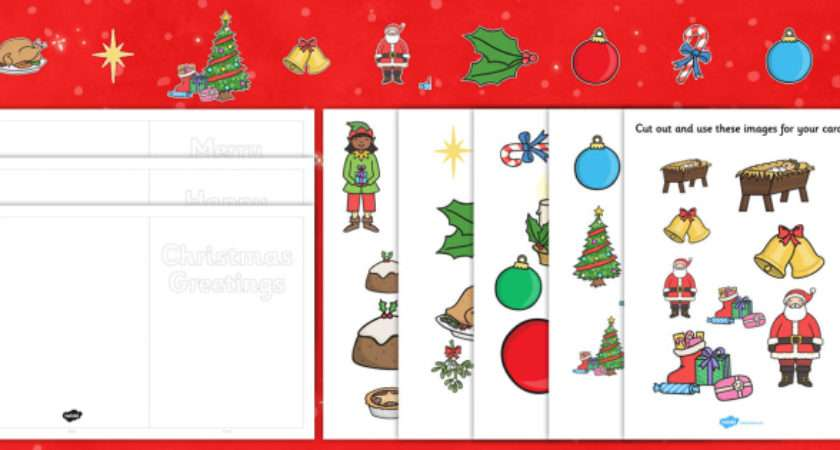 Make Your Own Christmas Cards Cut Outs Xmas
