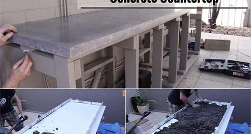 Make Your Own Concrete Countertop Home