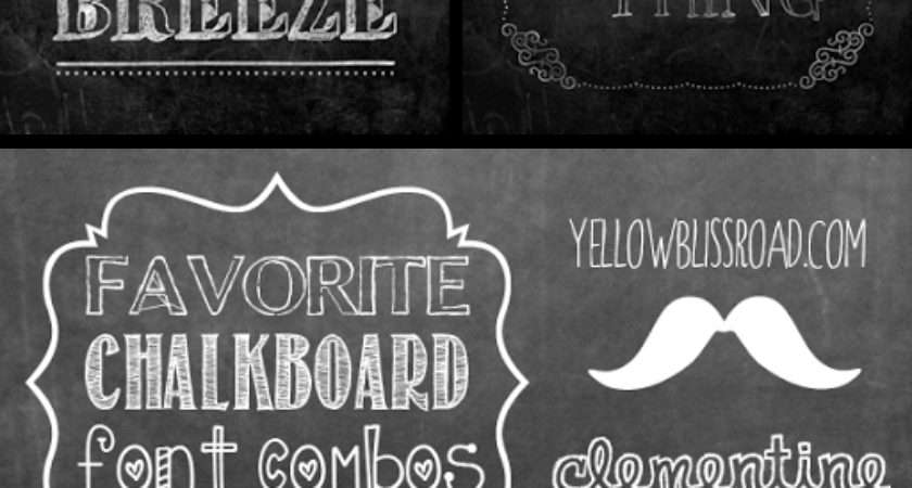 Make Your Own Printable Chalkboard Sign Yellow