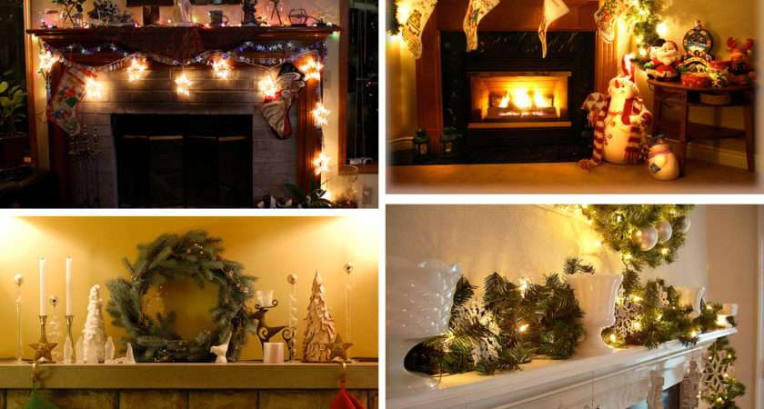 Mantel Christmas Decorations Ideas Digsdigs