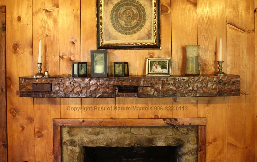 Mantels Rustic Fireplace Log Mantel