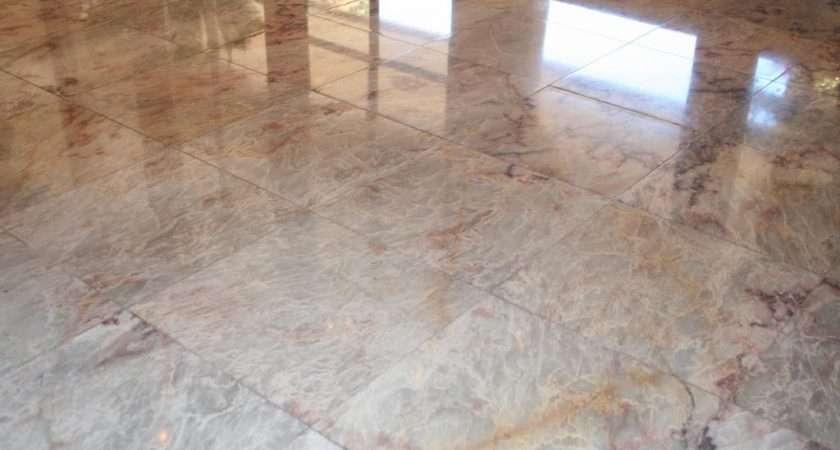 Marble Floor Polishing Restoration Orange Afterglow