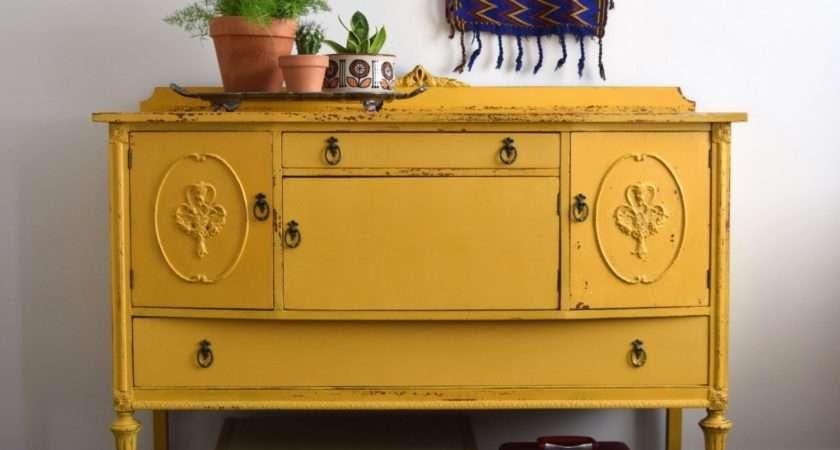Marigold Yellow Sideboard Haute Juice