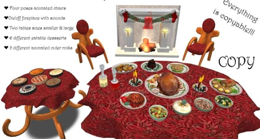Marketplace Christmas Table Santa Dinner Banquet Dining Set Copy