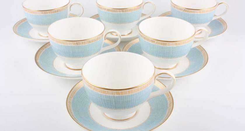 Marks Spencer Mosaic Blue Piece Tea Set Teacups