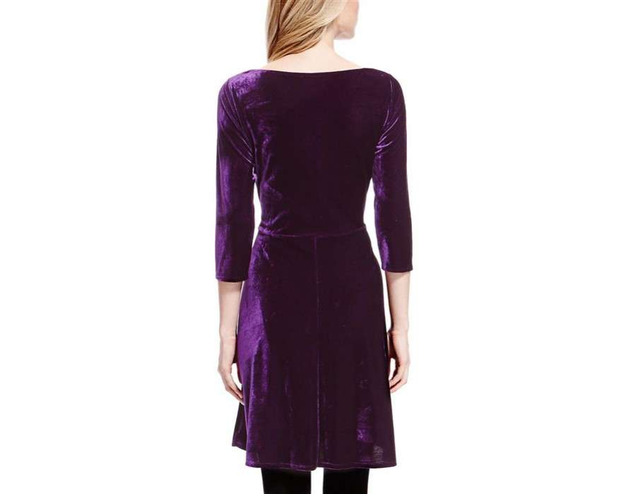 Marks Spencer Velvet Skater Dress