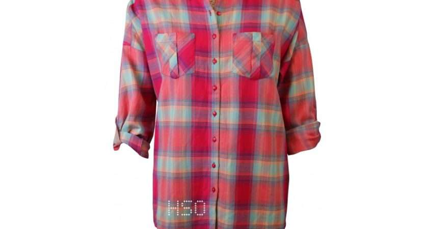 Marks Spencers Ladies Checked Shirt Tops Highstreet Outlet