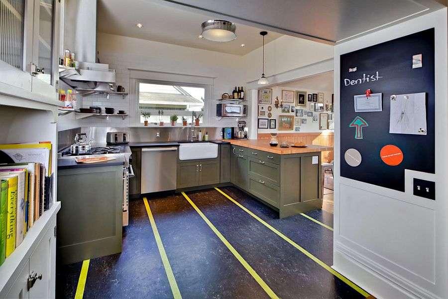 Marmoleum Linoleum Flooring Forbo Bring Stripes Kitchen