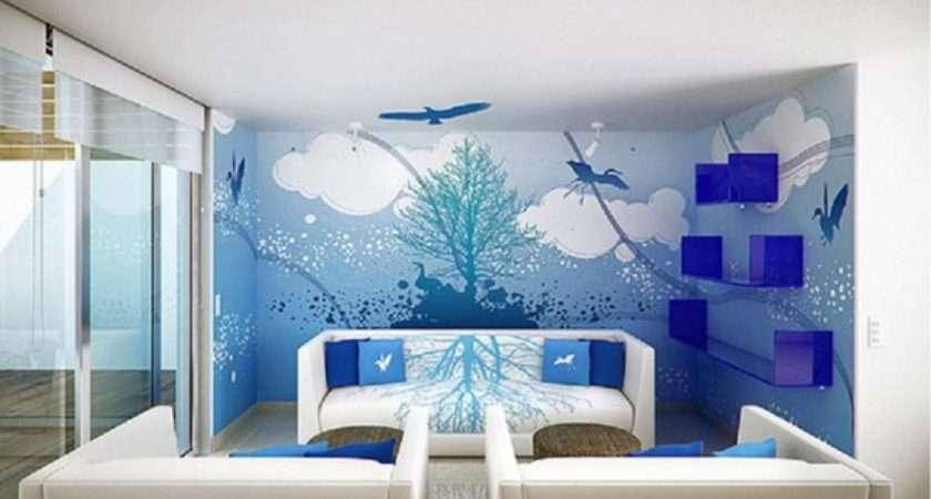 Marvelous Room Wall Designs Scenary Painting Plus