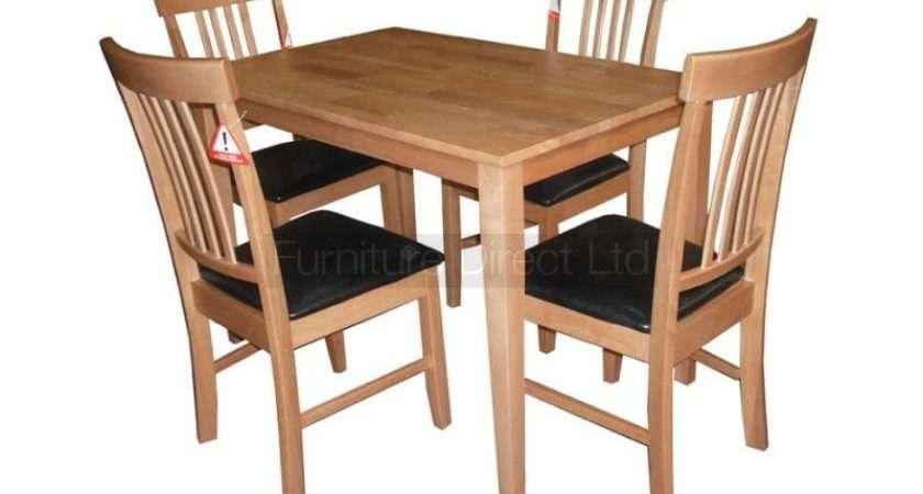 Massa Small Dining Table Oak Mahogany Finish Chairs
